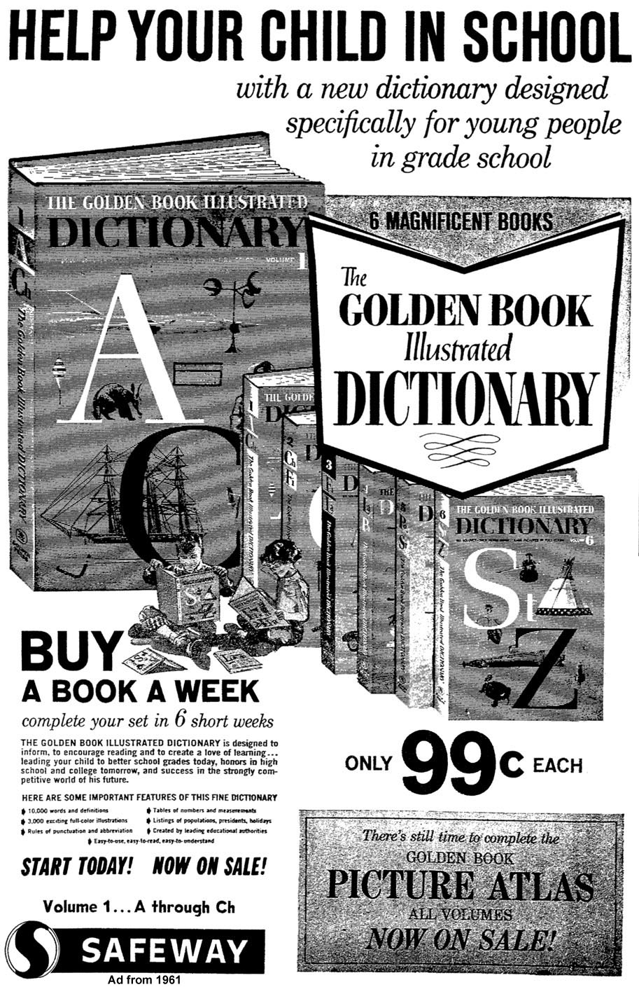 Golden Book Dictionary safeway ad